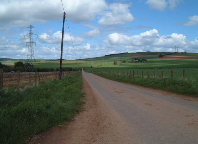 Back road from Arbuthnott near Barras