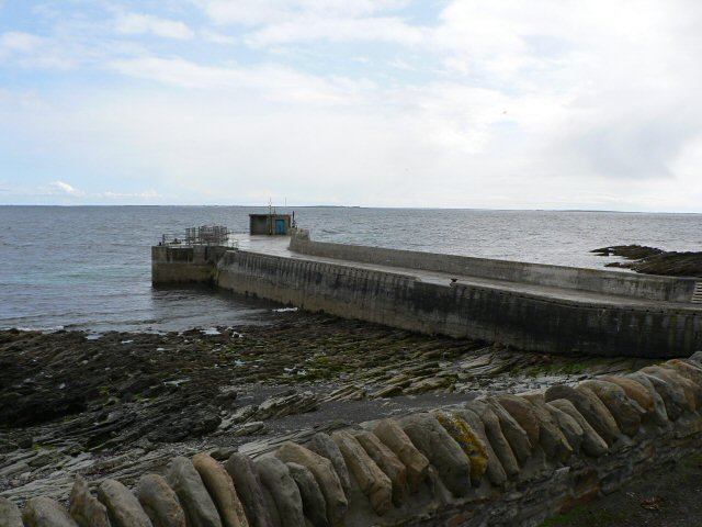 North Ronaldsay pier