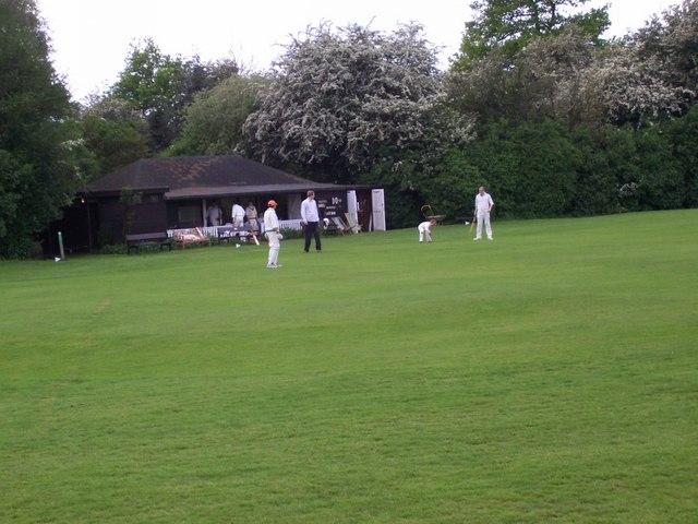 Cricket near the pub