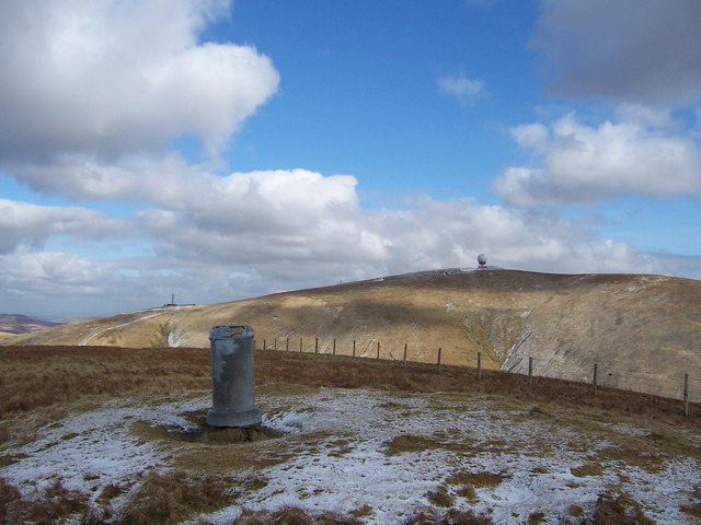 The viewpoint indicator on East Mount Lowther