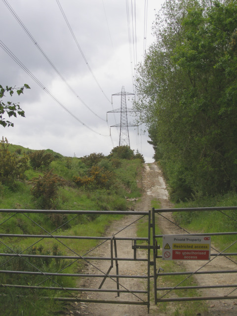 Power lines at Pound Bottom