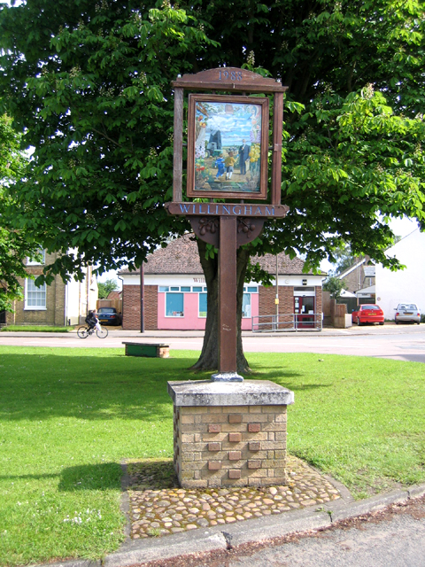 Village sign, Willingham, Cambs