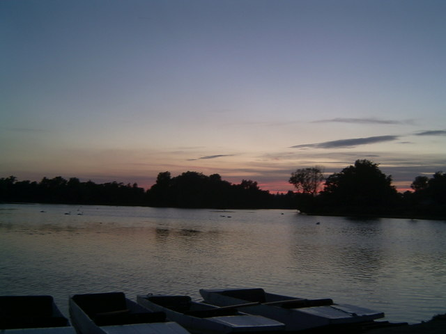 Sunset At Thorpeness Meare