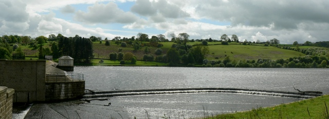 Overflow and Dam, Lindley Wood Reservoir