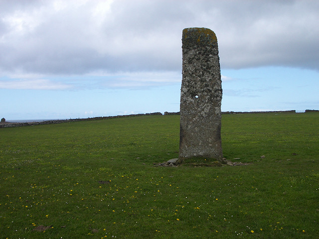 Standing stone on North Ronaldsay