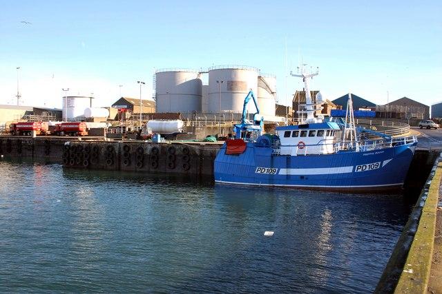Blubber Box Quay, Peterhead harbour.