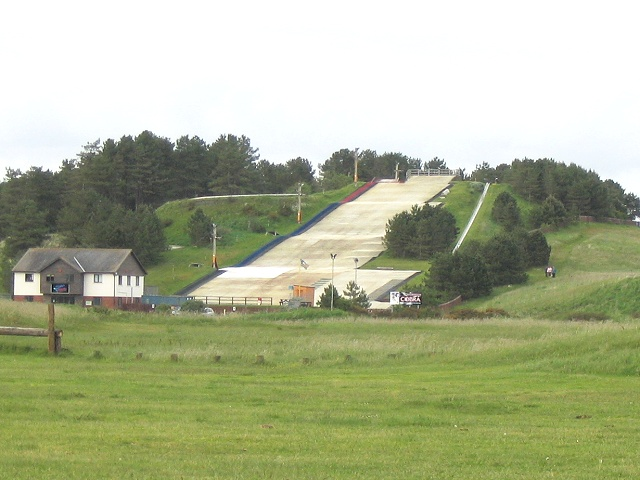 Dry ski slope at Pembrey Country Park
