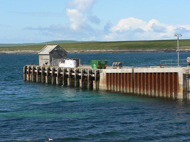 Moclett pier, Papa Westray