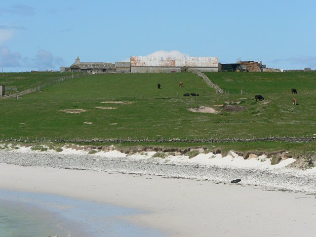 View inland to Gayfield, Papa Westray