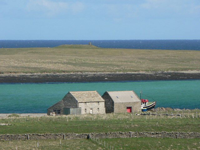 Buildings at the old pier, Papa Westray