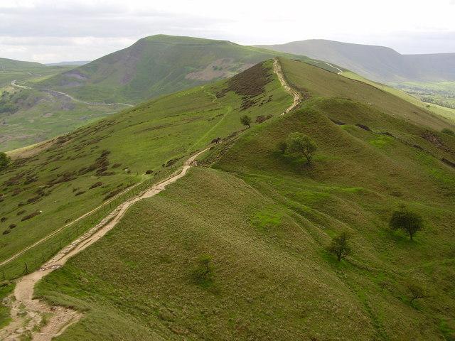 The Great Ridge Footpath, Derbyshire