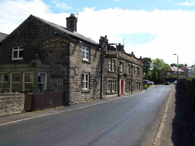 Shoulder of Mutton Pub at Worrall