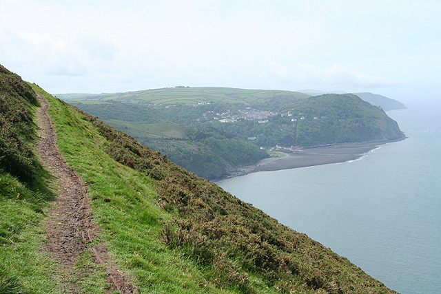 Countisbury: South West Coast Path by Butter Hill