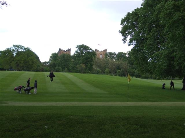 Lumley Castle Golf Club, with the castle in the background