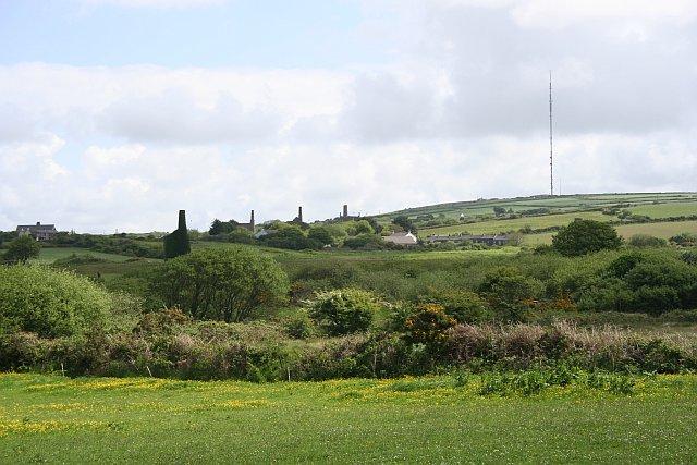 Across Newton Moor towards Treskillard