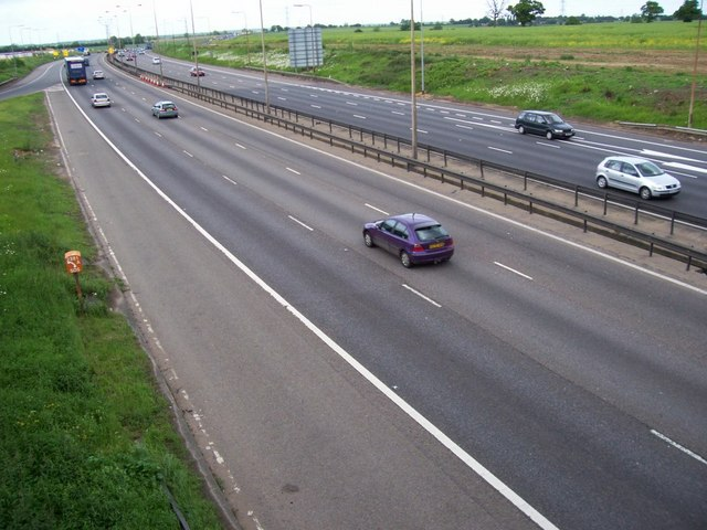 M1 at junction 8