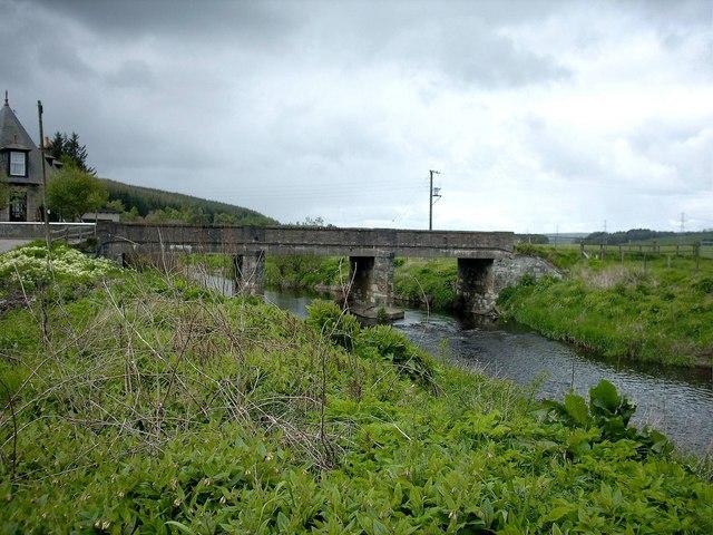 Bridge over River Isla near former Grange Station near Keith