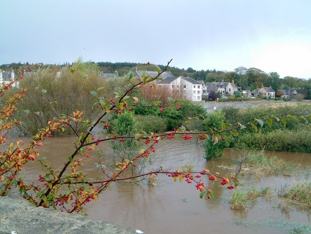 The river Ythan in full flood