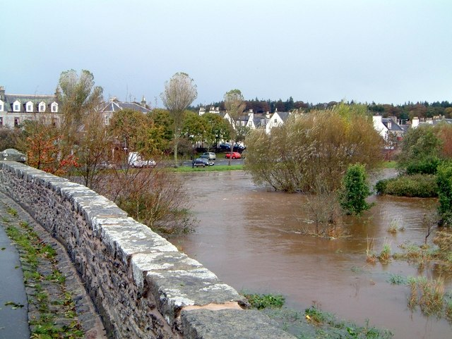 Autumn floods at Ellon