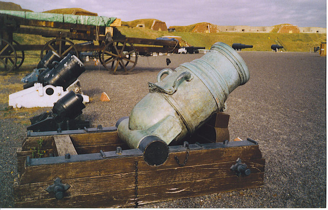 Old Cannons on Display at Fort Nelson.