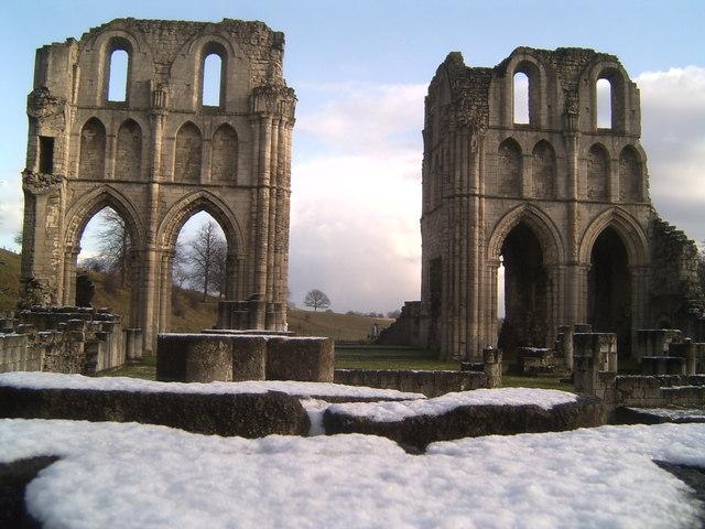 Roche Abbey In Winter