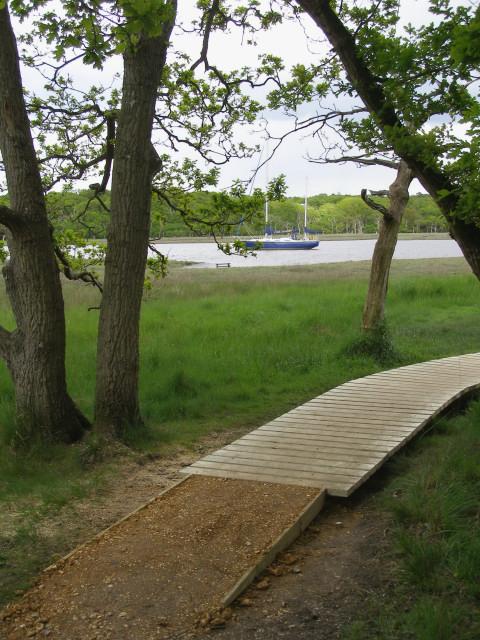 New duckboards on the riverside walk, Bucklers Hard