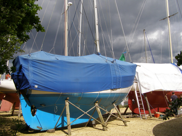 Boats in the Agamemnon Boat Yard, Bucklers Hard