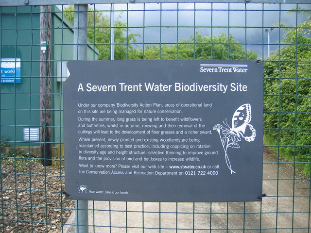 Sign on sewage works gate