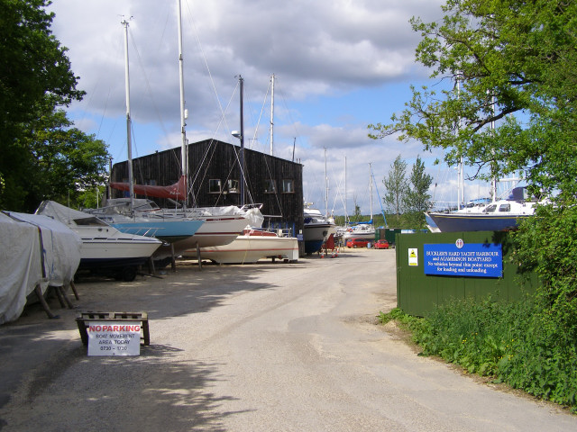 Entrance to the Buckler's Hard Yacht Harbour and Agamemnon Boatyard