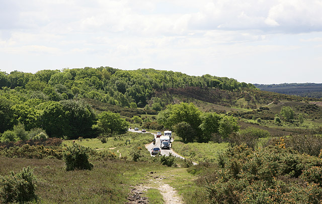 Approaching Burley Street from Picket Post, New Forest