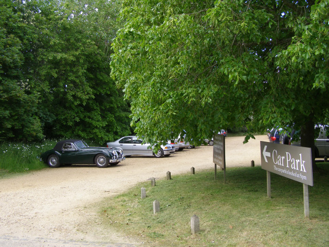 Customer car park for Buckler's Hard village and cafeteria