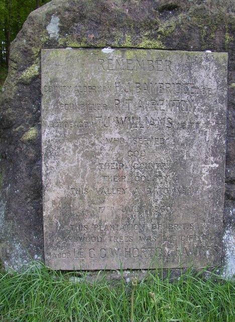 Memorial stone, Chevin Country Park, Otley