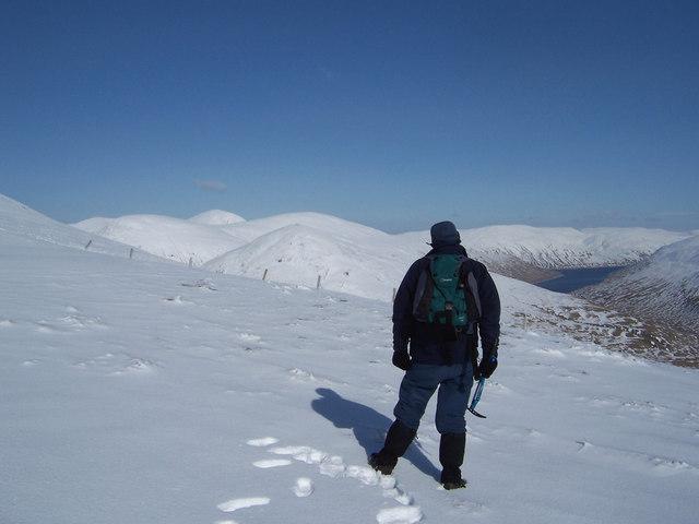 On the south ridge of Beinn a'Chaisteil, looking NE