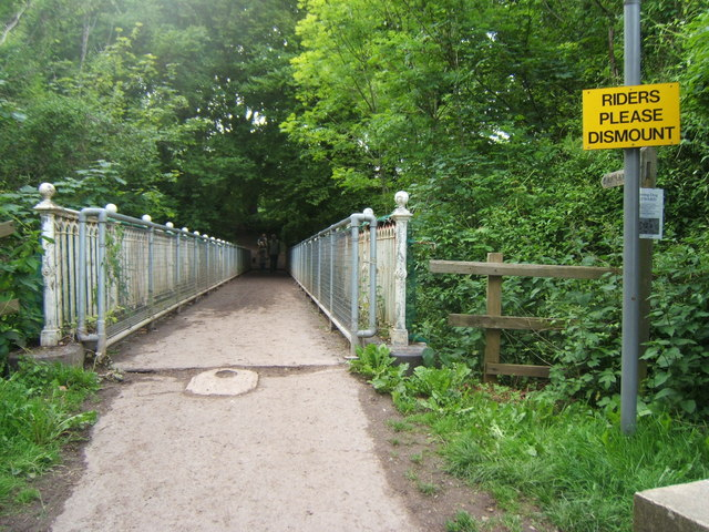 Bridge carrying the North Downs Way over the A217