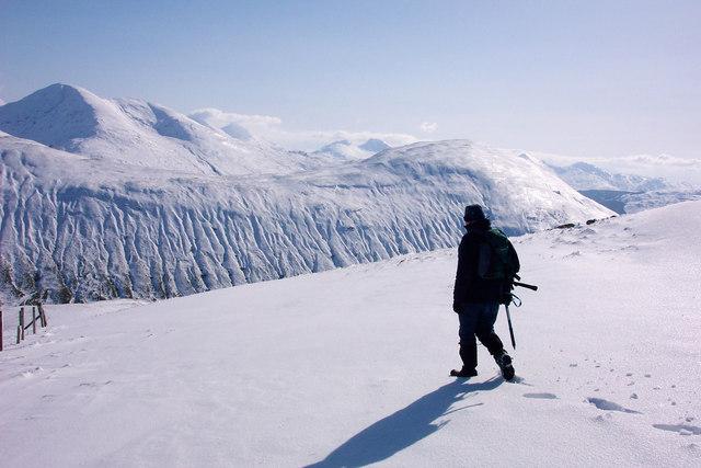 On the south ridge of Beinn a'Chaisteil, looking SE