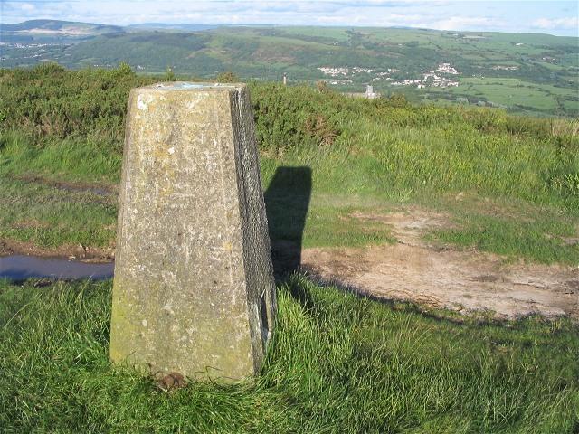 Trig pillar on Mynydd Gelliwastad