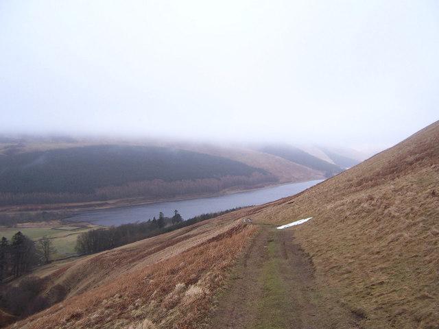 The hillside track above Riskinhope