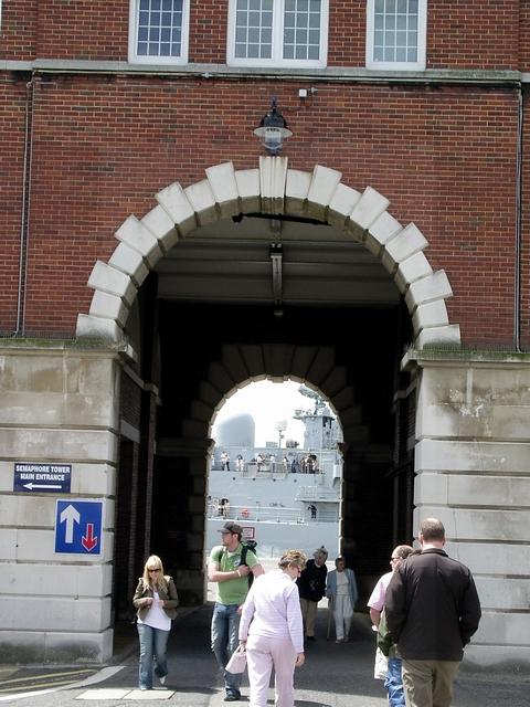 Semaphore Tower Arch, Historic Dockyard, Portsmouth