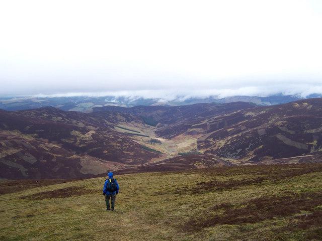 The north ridge of Dun Rig