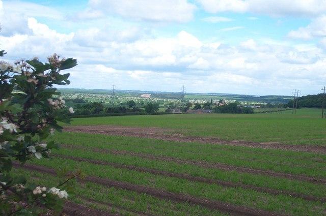 View from near Peafield Lane