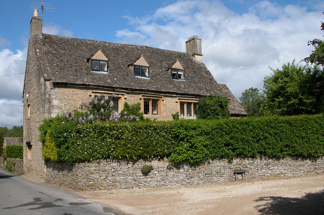 Cotswold house in the village of Naunton