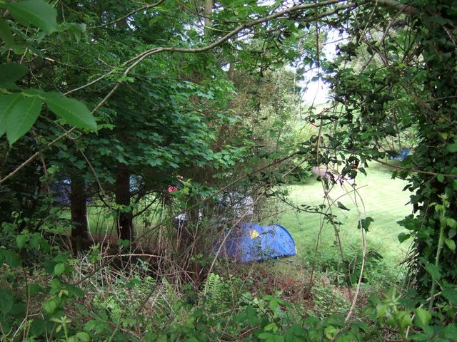 Campsite, Middlecombe  Cross