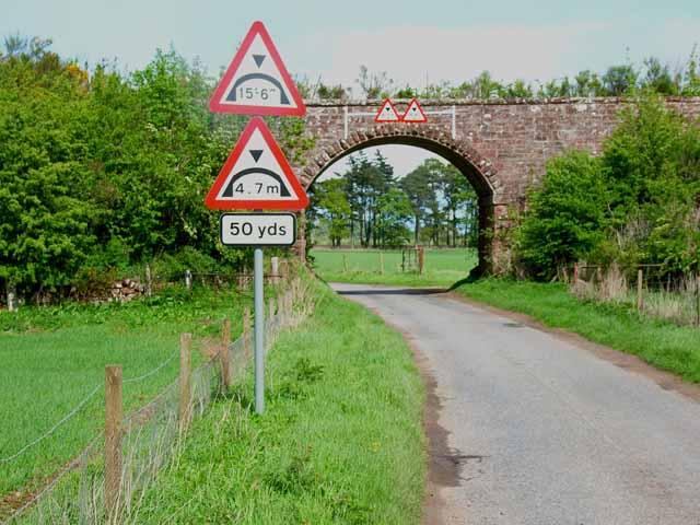 Old railway bridge in Strathmore