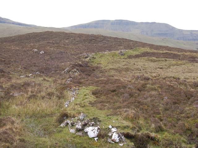 Wall near Loch Cuithir