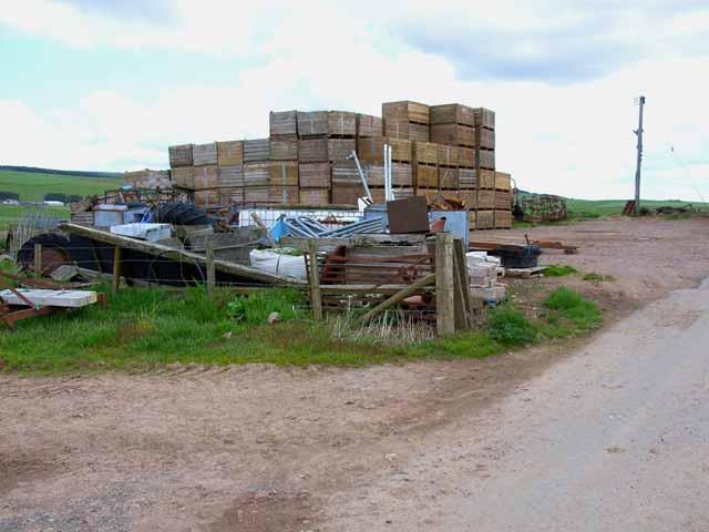 Mountain of crates at Jacksbank