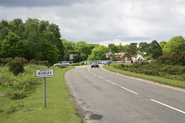 The edge of Burley, Station Road