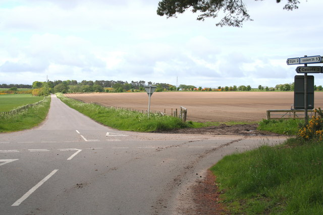 At the Pitgaveney Cross Roads, north east of Elgin, Morayshire.