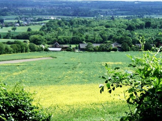 Overlooking Park Farm, near Ryarsh