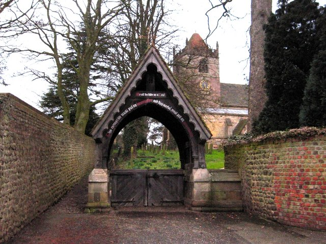 Lych gate: Whixley Church
