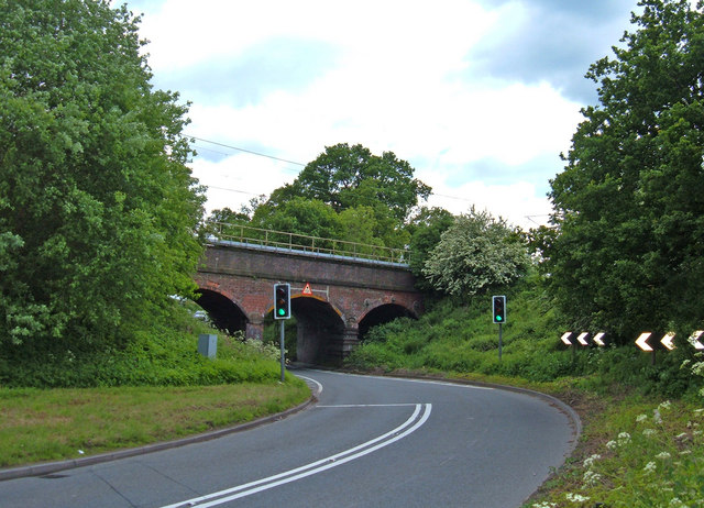 Railway crossing the A535